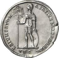 No. 499. Roman Coins. Constans I, 337-350. Multiple of 4 siliquae, 337-338, Thessaloniki. Very rare. Rev. Double strike. Extremely fine. Estimate: 20,000 euros.