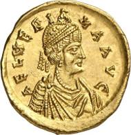 No. 527. Roman Coins. Aelia Verina, 457-484. Solidus, 462-466. Extremely rare. Extremely fine. Estimate: 25,000 euros.