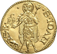 No. 3068. Italy / Florence. Fiorino d'oro n. d. (1198-1531). Unpublished mint mark. Extremely rare. Die defect. FDC. Estimate: 3,000 euros.