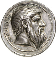 No. 3380. Medals. Valerio Belli, also known as Vicentino, 1468-1546. Medal n. d. (c. 1539-1542) on the Spartan king Lycurgus. From auction sale Astarte 8 (2001), 121. Extremely fine. Estimate: 10,000 euros.