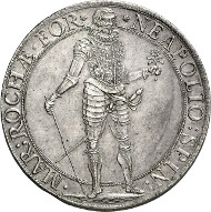 No. 3439. Italy / Ronco. Napoleone Spinola, 1647-1672. Scudo (spadino) 1669. Extremely rare. About FDC. Estimate: 30,000 euros.