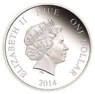 Niue / 1$ / 1/2oz 999 silver / 32mm / Mintage: 5,000.