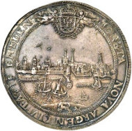 30072: Emden. Leopold I City 2 Taler 1674, Davenport A5251, KMA21, MS66 NGC. Sold for $111,625.