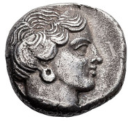 98: Euboea, Eretria. Stater, c. 375-357. Wallace-9. EF. Estimate: $26,500.