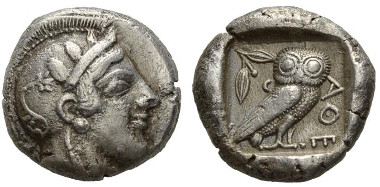 51: Attica, Athens. Tetradrachm, circa 459-449. Good very fine.