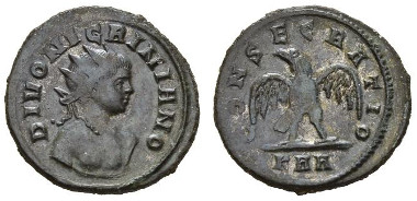185: Divo Nigriniano, son of Carinus Antoninianus. Aes, circa 284-285. RIC 472. Extremely fine.
