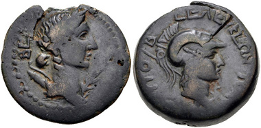 160: CILICIA, Seleukeia. 2nd-1st centuries BC. AE. Cf. SNG France 952. Near VF. Estimate: $150.