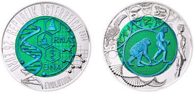 Der Renner auf der World Money Fair: Die neue zweifarbige Niob-Münze. Foto: Münze Österreich.
