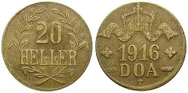 Deutsch Ostafrika, 20 Heller 1916, Tabora. Me. J. 724b. Ritter, Sonderliste