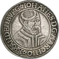 29: Germany / Brandenburg-Prussia. John of Küstrin, 1535-1571. Thaler 1545, Krossen. Dav. 8956. Very rare. Very fine to extremely fine. Estimate: 40,000 euros. Hammer price: 55,000 euros.