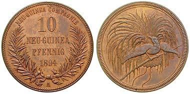 Deutsch Neuguinea. 10 Pfennig 1894, A. Cu. J. 703. Ritter, Sonderliste