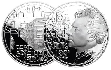 500 Schilling 1991. Herbert von Karajan. Herbert Wähner. Foto: Münze Österreich.