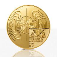 Die Goldmedaille.