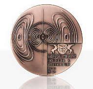 Die Hochreliefmedaille in Bronze