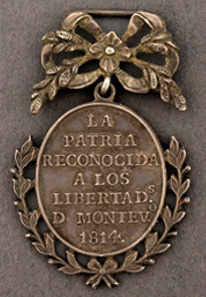 Argentina, Medal for the Capture of Montevideo, 1814.