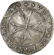 Alof de Wignacourt, 54th Grand Master, 1601-1622. 3 Tari n. d., Valetta. Very rare. From auction sale Künker 246 (11/12 March 2014), 2864. Estimate: 1,000 euros.