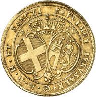 Francisco Ximenez de Texada, 69th Grand Master, 1773-1775. 20 scudi 1773, Valetta. From auction sale Künker 246 (11/12 March 2014), 2946. Estimate: 3,500 euros.