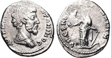 483: MESOPOTAMIA. Marcus Aurelius. AR Drachm, circa AD 165, uncertain mint (Edessa?). Cf. RPC Online temp. no. 9578 (for obv.); BMC pp. xcviii-xcix (for series); otherwise unpublished. VF. Apparently unique. Estimate $200.