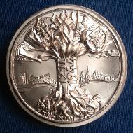 Revers der von Victor Huster gestalteten Medaille.