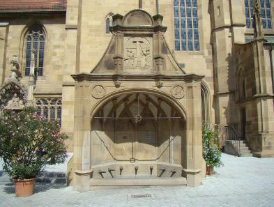 Der Siebenröhrenbrunnen bei der Kilianskirche. Foto: peter schmelzle / http://creativecommons.org/licenses/by-sa/3.0/deed.en