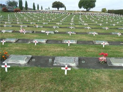 Each year on ANZAC Day in Te Awamutu, New Zealand the graves of War Veterans are decorated/ Wikipedia.