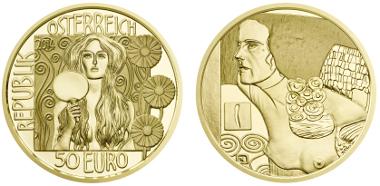 Austria / 50 euros / 986 gold / 10.14g / 22mm / Design: Helmut Andexlinger, Herbert Wähner / Mintage: 30,000.