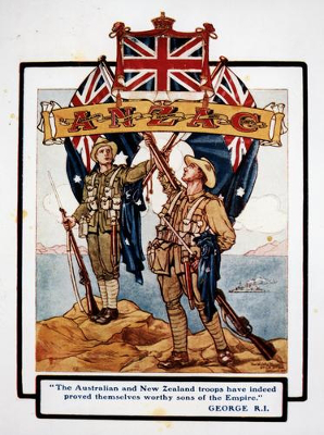 Popular illustration of Anzac troops after the fighting at Gallipoli/ Wikipedia.