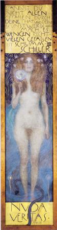 Gustav Klimt, Nuda Veritas, 1899. Österreichisches Theatermuseum, Vienna. Source: Wikicommons.