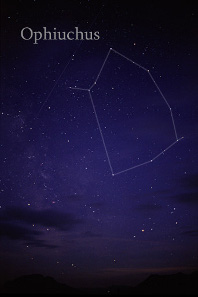 Ophiuchus (Serpentarius) constellation. Photograph: Till Credner / http://creativecommons.org/licenses/by-sa/3.0/deed.en