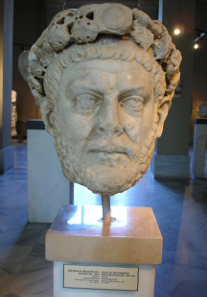 Bust of Diocletian in the Archaeological Museum at Istanbul. Source: Wikicommons.