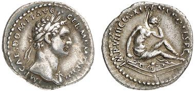 224: KAISERZEIT, Domitianus. Denar, 85, Rom. RIC 341. ss-vz. Zuschlag: 460 Euro, Ausruf: 200 Euro.