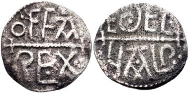 814: ANGLO-SAXON, Kings of Mercia. Offa. Penny, circa 780-792, London mint; Aethelweald, moneyer. North 287/1. Good Fine. Estimate $1000.