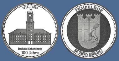 Die neue Prägung auf das Rathaus Schöneberg.