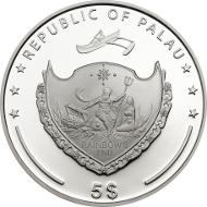 Palau / 5 Dollars / 925 silver / 38.61 mm / 25g / Mintage: 2,500.