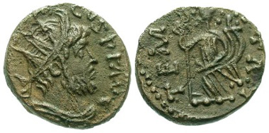 Antoninianus from an irregular mint in the name of Tetricus. Forum Ancient Coins online shop.