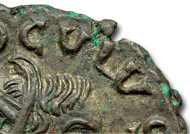 Detail of the obverse of the first known example of Proculus.