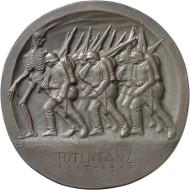 Abb. 2 Ludwig Gies, Totentanz (1917), Vorderseite. Bronze, 121 mm. © Staatliche Museen zu Berlin, Münzkabinett/ Reinhard Saczewski.
