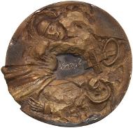 Abb. 4 Klaus Kowalski, Ruhm und Ehre (2013), Rückseite. Bronze, 98-102 mm. © Staatliche Museen zu Berlin, Münzkabinett/ Reinhard Saczewski.