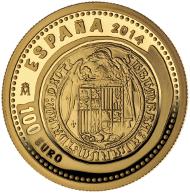Spain / 100 euros / 999 gold / 23mm / 6.75g / Mintage: 4,000.