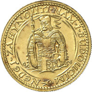 Lot 3498: CZECHOSLOVAKIA. Republic. Lot (4). 10, 5, 2, 1 ducat 1938. Extremely rare. Brilliant uncirculated. Estimate: 15,000 euros. Final price: 282,000 euros.