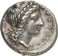 Lot 19: CROTON (Bruttium). Didrachm, c. 390-360 B. C. Extremely fine. Estimate: 1,200 euros. Final price: 13,000 euros.