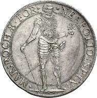 Lot 3439: ITALY. Ronco. Napoleone Spinola, 1647-1672. Scudo (spadino) 1669. Extremely rare. About FDC. Estimate: 30,000 euros. Final price: 49,000 euros.