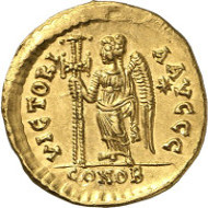 Lot 527: AELIA VERINA, 457-484. Solidus, 462-466. Extremely rare. Extremely fine. Estimate: 25,000 euros. Final price: 54,000 euros.