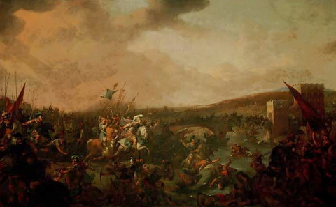 Johann Lingelbach, Battle of the Milvian Bridge, about 1650. Source: Wikicommons.