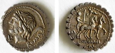 Denar (106 v. Chr.) mit dem