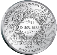 Netherlands/ 5 EUR/ Silver 925/ 15.5 g/ 33 mm/ Mintage: 12,500 (including color coins).