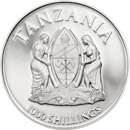 Tanzania / 1000 Shillings / 925 silver / 38.61mm / 20g / Mintage: 1,000.
