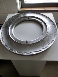 An example of what moulds used for the manufacturing of car tire sidewalls can look like. Photo: Lang GmbH & Co. KG.