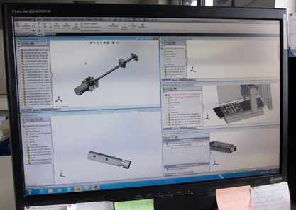 Several newly developed special parts of a Lang machine. Photo: UK.