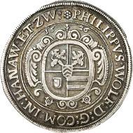 Nr. 1351: ALTDEUTSCHLAND / HANAU-LICHTENBERG. Philipp Wolfgang (1625-1641). Taler 1626, Wörth-sur-Sauer.